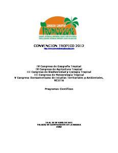 CONVENCION TROPICO 2012