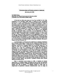 CONVENCIONES DE GINEBRA SOBRE EL DERECHO