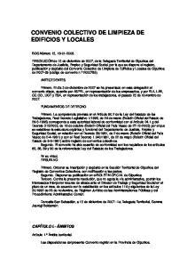 CONVENIO COLECTIVO DE LIMPIEZA DE EDIFICIOS Y LOCALES