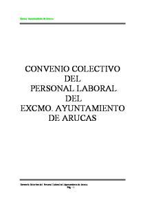 CONVENIO COLECTIVO DEL PERSONAL LABORAL DEL EXCMO. AYUNTAMIENTO DE ARUCAS