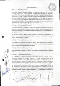 CONVENIO COLECTIVO. El presente Convenio Colectivo de Trabajo es de aplicacion en todo el territorio de la Republica Argentina