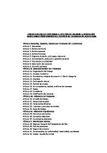 CONVENIO COLECTIVO PARA EL SECTOR DE AMARRE y SERVICIOS AUXILIARES PORTUARIOS DEL PUERTO DE LA BAHIA DE ALGECIRAS