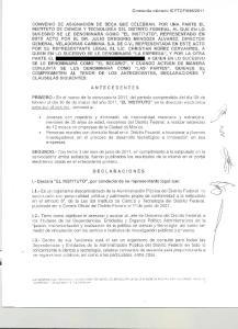 CONVENIO DE ASIGNACION DE BECA QUE CELEBRAN, POR UNA PARTE