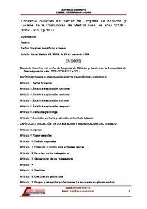 CONVENIOS COLECTIVOS LIMPIEZA DE EDIFICIOS Y LOCALES