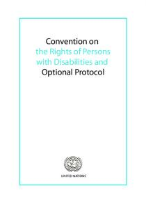 Convention on the Rights of Persons with Disabilities and Optional Protocol