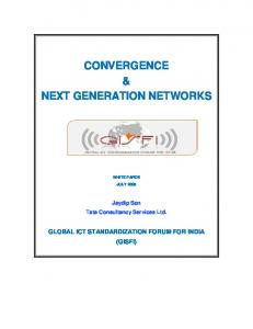 CONVERGENCE & NEXT GENERATION NETWORKS