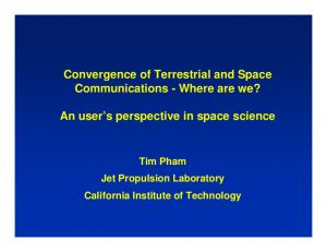 Convergence of Terrestrial and Space Communications - Where are we? An user s perspective in space science