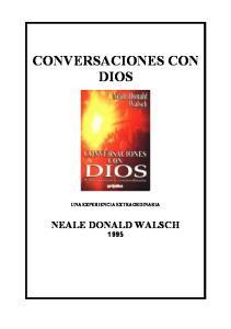 CONVERSACIONES CON DIOS UNA EXPERIENCIA EXTRAORDINARIA
