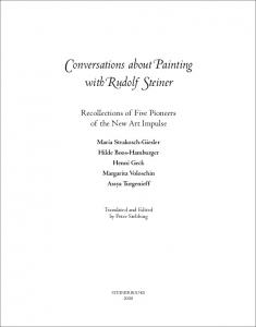 Conversations about Painting with Rudolf Steiner