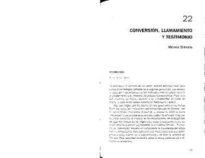 CONVERSION, LIAMAMIENTO Y TESTIMONIO