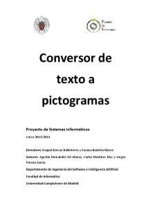 Conversor de texto a pictogramas