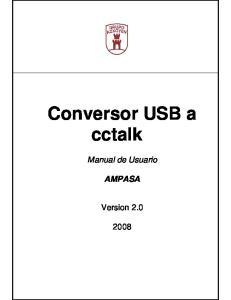 Conversor USB a cctalk