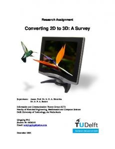 Converting 2D to 3D: A Survey
