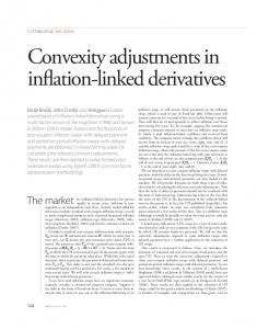 Convexity adjustments in inflation-linked derivatives