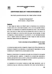 CONVIVENCIA ESCOLAR Y HABILIDADES SOCIALES