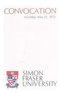 CONVOCATION Saturday, May 2 7, 1972