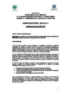 CONVOCATORIA 2012-C11