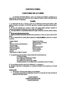 CONVOCATORIA CONCURSO DE ALTARES