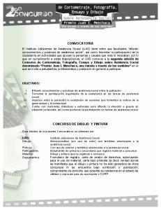 CONVOCATORIA CONCURSO DE DIBUJO Y PINTURA