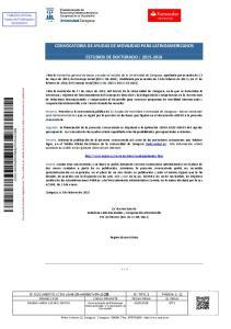 CONVOCATORIA DE AYUDAS DE MOVILIDAD PARA LATINOAMERICANOS ESTUDIOS DE DOCTORADO