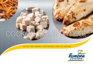 cooked poultry meat FOR THE FOOD INDUSTRY PROFESSIONALS AND FOR CATERING