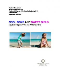 COOL BOYS AND SWEET GIRLS