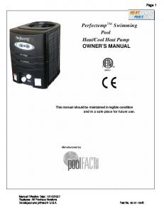 Cool Heat Pump OWNER S MANUAL
