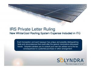 Cool Roofing System Expense Included in ITC