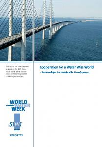 Cooperation for a Water Wise World