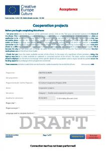 Cooperation projects