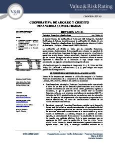 COOPERATIVA DE AHORRO Y CREDITO FINANCIERA COMULTRASAN
