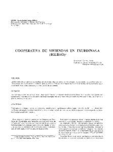 COOPERATIVA DE VIVIENDAS EN TXURDINAGA (BILBAO)*