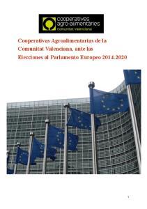 Cooperativas Agroalimentarias de la Comunitat Valenciana, ante las Elecciones al Parlamento Europeo