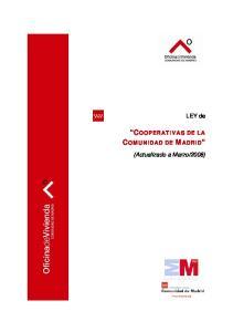 COOPERATIVAS DE LA COMUNIDAD DE MADRID
