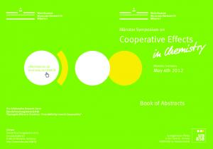 Cooperative Effects. Münster Symposium on SFB. Münster, Germany May 4th