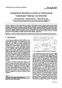 Cooperative Formation Control of Autonomous Underwater Vehicles: An Overview