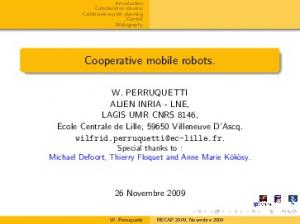 Cooperative mobile robots