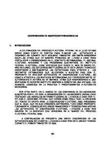 COORDINACION DE ASUNTOS INTERNACIONALES