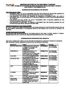 COORDINACION DE DESARROLLO DEL DEPORTE