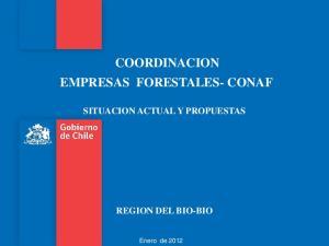 COORDINACION EMPRESAS FORESTALES- CONAF