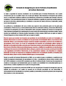 Coordinadores del Instituto Monteverde