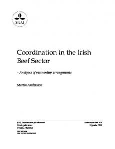 Coordination in the Irish Beef Sector