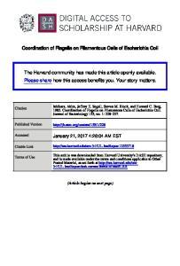 Coordination of Flagella on Filamentous Cells of Escherichia Coli