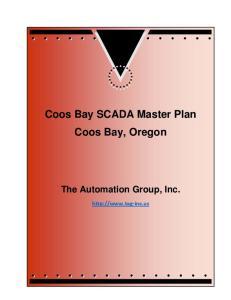 Coos Bay SCADA Master Plan Coos Bay, Oregon