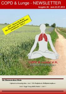 COPD & Lunge - NEWSLETTER