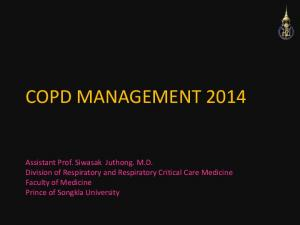 COPD MANAGEMENT 2014