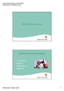 COPD & Palliative Care