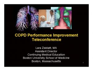 COPD Performance Improvement Teleconference