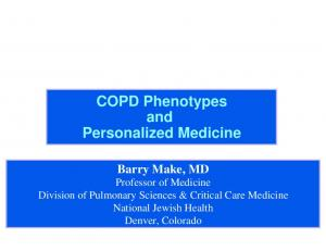 COPD Phenotypes and Personalized Medicine