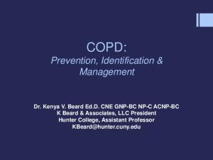 COPD: Prevention, Identification & Management